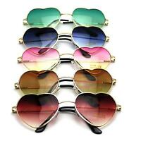 Stylish Metal Frame Sunglasses Women Love Heart Shape Lens Eyewear Eyeglasses