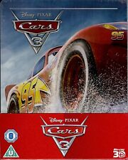 Disney Cars 3 Limited Edition 3-Disc Embossed SteelBook 3D (Region A, B & C UK)