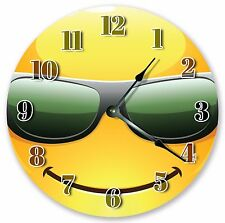 """10.5"""" COOL EMOJI WITH SUNGLASSES CLOCK Large 10.5"""" Wall Clock Home Décor - 3059"""