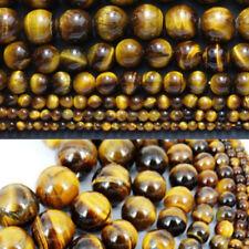 "Tiger Eye Round Beads Natural Gemstone 15.5"" Strand 4mm 6mm 8mm 10mm 12mm"