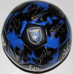 2018 SAN JOSE EARTHQUAKES team signed soccer ball *HOESEN - WONDOLOWSKI* W/COA