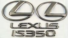 2008 LEXUS IS350 BLACK PEARL PLATED EMBLEM KIT