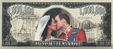 Royal Wedding Million Dollar Novelty Money, Prince William and Kate NOT Postcard