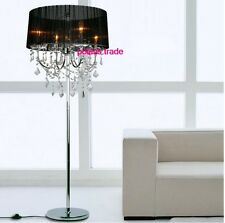 H170cm New Modern Elegant Lampshade Crystal Floor Lamp Luxury Lobby Floor Light