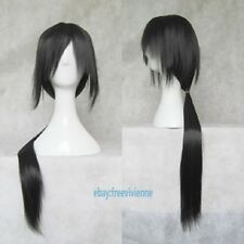 Fashion Itachi Long Straight Black Cosplay Wig Stiled Party Wig +Free wig cap