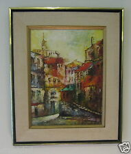 Oil on Canvas – Street Scene in Naples, Italy – Signed N. Andre?