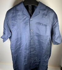 "Men's Steve Harvey Celebrity Edition Lg Dress Shirt And 34"" Pants Linen L Blue"