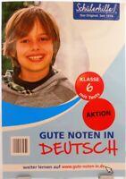 Gute Noten in Deutsch + Nachhilfe Übungsbuch Original Schülerhilfe 6.Klasse /62