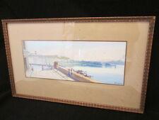 Y. GIANNI dipinto originale firmato GOLFO DI NAPOLI NAPOLI FUMO VESUVIO MT