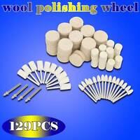 Useful Felt Polishing Buffing Tool Pads Wheel Wool Plastic Rotary Tool Kit 129x