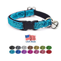 "Kitty Kaboodle USA Made Designer Breakaway Sparkle Cat Kitten Pet Collar (7-11"")"
