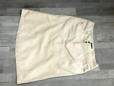 Womens Sonoma Skirt Size 8 Color Beige Knee Length 100% Cotton