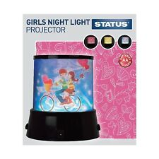KIDS NIGHT LIGHT PROJECTOR LED RELAXING COLOUR CHANGING KIDS BEDROOM LAMP STATUS