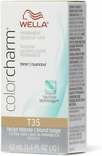 WELLA PROFESSIONALS COLOR CHARM LIQUID HAIR TONER T35 BEIGE BLONDE 42ML
