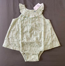 Baby Girl 18-24 Month Baby Gap Mint Eyelet One Piece Ruffle Double Bodysuit