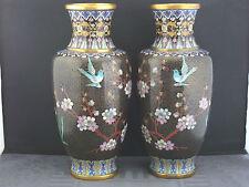 ein paar alte Cloisonne Vasen Japan