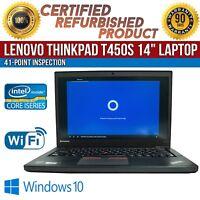 "C Grade Lenovo ThinkPad T450s 14"" Intel i5 8GB RAM 320GB HDD Win 10 WiFi Laptop"