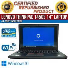 "Lenovo ThinkPad T450s 14"" Intel i5 8GB RAM 500GB HDD Win 10 WiFi B Grade Laptop"