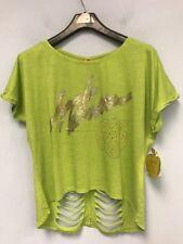 Womens T-Shirt  Apple Bottoms Graphic Tee Juniors Green Short Sleeve Size 1X