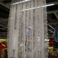 Sheer Embroidery Curtain Pelmets Net Lace Voile Flowers Window Panel Drape Wave