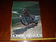 1972 HONDA 350 FOUR - ORIGINAL VINTAGE POSTER