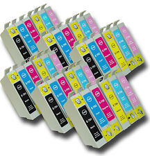 """36 T0791-T0796 """"Hibou"""" non-OEM Cartouches d'encre compatibles avec Epson Stylus PX730WD"""