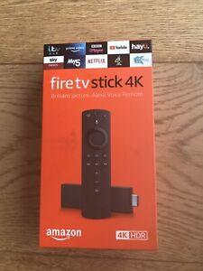 Amazon Fire Tv Stick 4K Ultra HD. New In Sealed Box. Alexa Voice Remote