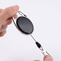1x Car Metal Retractable KeyChain Card Badge Holder Recoil Ring Pull Belt Clip