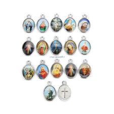 Catholic Religious Holy Crosses Enamel Medals Charms Jewellery Pendants 100Pcs