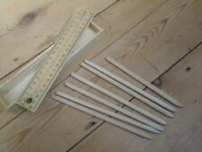 Wooden Pencil Box Sliding Lid Ruler With Seven Pencil Crayons Art Drawing L5