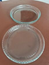 2 x Pyrex Bake & Enjoy Glass Quiche Flan Dishes High Resistance Approx 24 & 27cm