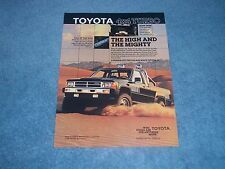 "1987 Toyota Turbo SR5 Xtracab Sport Vintage Ad ""The High and The Mighty"""