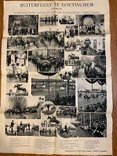Vintage Equestrian Festival Poster, 1937, Netherlands