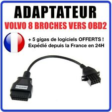 Connecteur diagnostic CABLE OBD2 8 broches VERS 16 pins - VOLVO