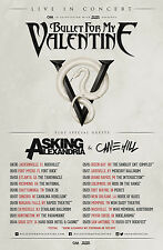 """BULLET FOR MY VALENTINE / ASKING ALEXANDRIA """"IN CONCERT"""" 2014 USA TOUR POSTER"""