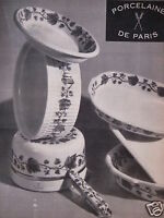 PUBLICITÉ PORCELAINE DE PARIS
