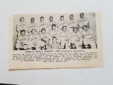 Norco Shell Oilers Louisiana 1951 Baseball Team Picture