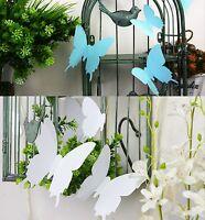 Farbige 3D Schmetterlinge 12er Set Wandtattoo Deko Sticker Aufkleber Tattoo
