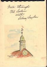 RARE SIGNED A WALK THROUGH OLD SALEM WITH SIDNEY SNYDER MASSACHUSETTS GOOD COND