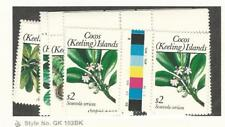 Cocos Islands, Postage Stamp, #184, 186-7, 191-7 Mint NH Pairs, 1988-9 Flowers