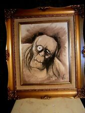 Illustration By Victor Frankenstein On Aged Canvas