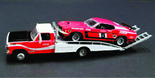 Moffat Racing  Ford F350 Tray Truck with  1969 Trans-Am Mustang 1:64 Scale