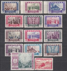 España Sueltos 1940 Edifil 889/901 + 903 ** Mnh - Virgen del Pilar