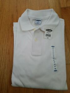 Old Navy Boy's Pique Uniform Polo White Size 14