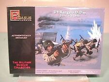Pegasus Hobbies 1/72nd World War II U.S. D-day Rangers Plastic Soldiers Set 7351