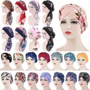 Women Lady Hair Loss Scarf Cancer Chemo Cap Muslim Turban Hat Hijab Head Wraps