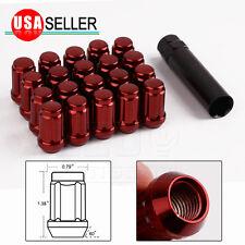 20 Red 6 Spline Lug Nuts | 12X1.5 | + Key fits TOYOTA FJ TUNDRA 4RUNNER TACOMA