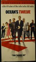 Ocean's Twelve VHS 2004 George Clooney Brad Pitt Matt Damon Andy Garcia Julia