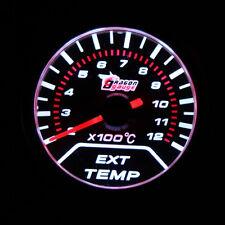 "Universal 2"" 52mm LED Car Motor EGT Exhaust Gas Temp Gauge Meter + Sensor F1F2"