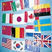 Flags Of All Nations Pennant Banner Line of Flags 15 flags 15 feet long